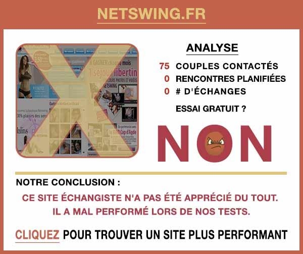 Résumé de nos témoignages sur NetSwing